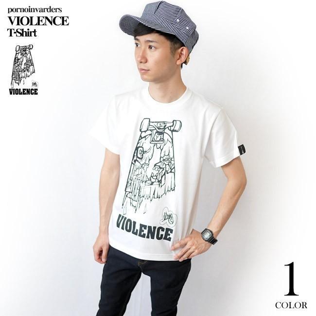 VIOLENCE (バイオレンス) Tシャツ (ホワイト)-G-  半袖 白Tee ゾンビ スケボー パンクロックTシャツ バンドTシャツ|bambi|03