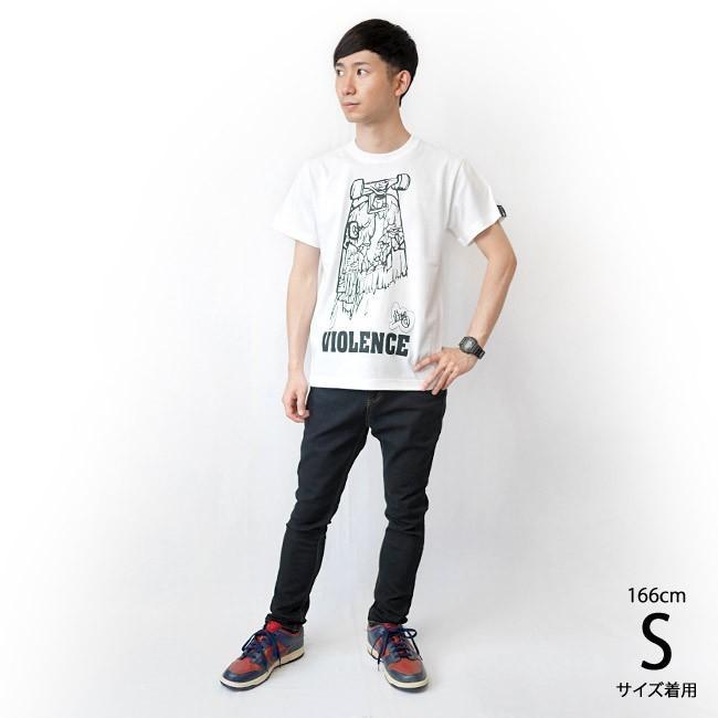 VIOLENCE (バイオレンス) Tシャツ (ホワイト)-G-  半袖 白Tee ゾンビ スケボー パンクロックTシャツ バンドTシャツ|bambi|04
