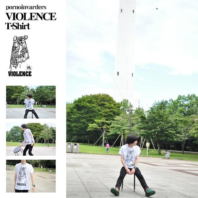 VIOLENCE (バイオレンス) Tシャツ (ホワイト)-G-  半袖 白Tee ゾンビ スケボー パンクロックTシャツ バンドTシャツ|bambi|05