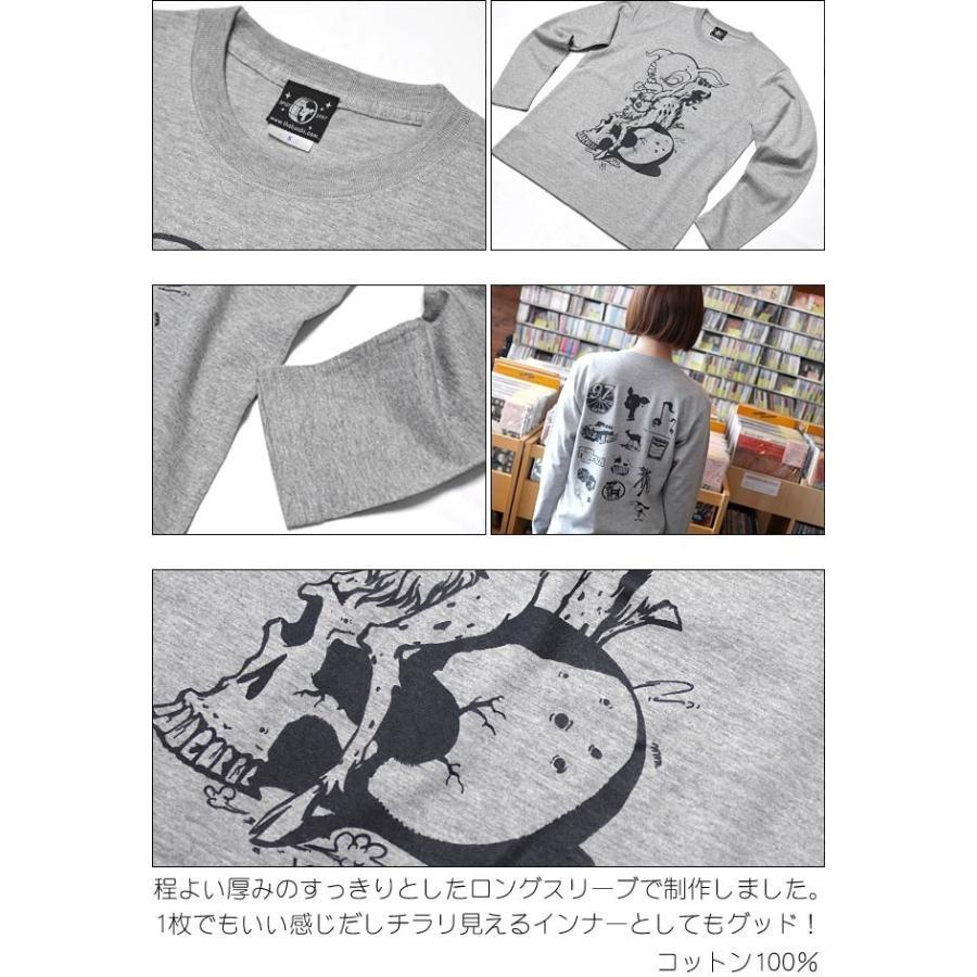 コアバンビ ロングスリーブ Tシャツ -G- 長袖 ロンT 子鹿 こじか スカル ドクロ パンクロックTシャツ|bambi|06