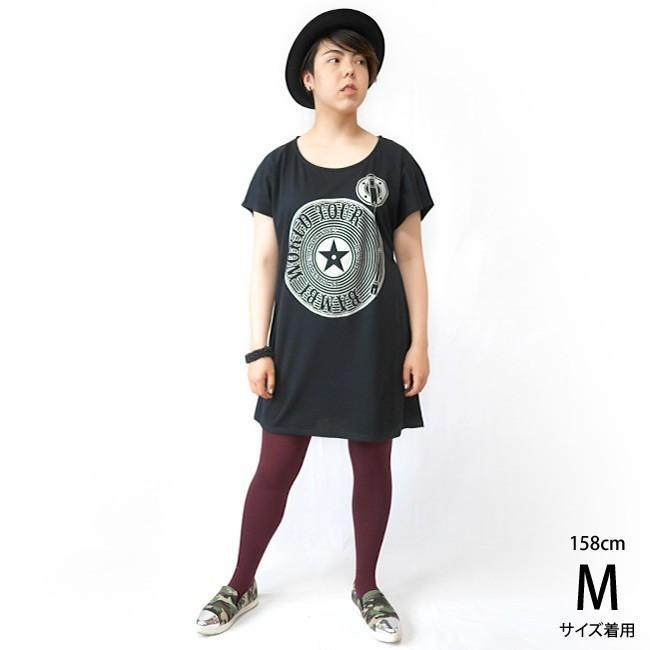 Bambi World Tour Tシャツワンピース -G- ワンピTシャツ ガーリー かわいい ロックTシャツ バンドTシャツ ライブ 半袖|bambi|02