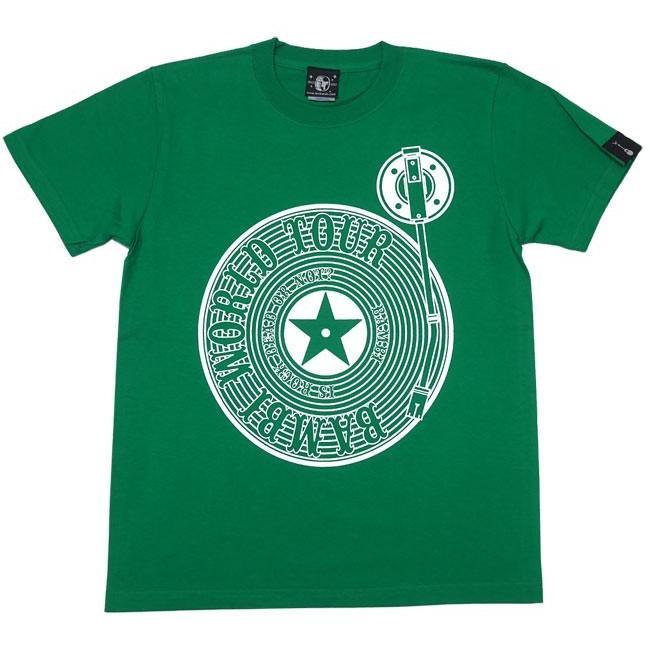 ロックTシャツ / Bambi World Tour Tシャツ (グリーン)-F- 半袖 緑色 ロックンロール バンドTシャツ ライブ フェス 音楽 バックプリント|bambi