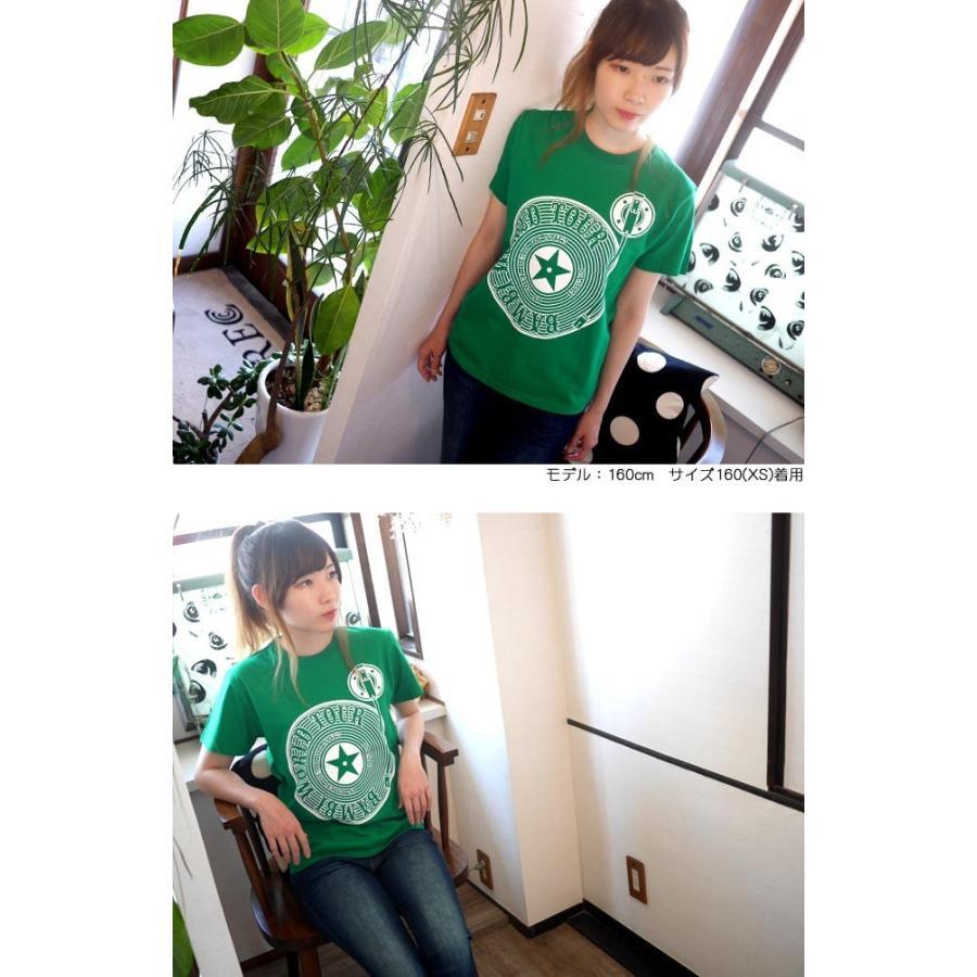 ロックTシャツ / Bambi World Tour Tシャツ (グリーン)-F- 半袖 緑色 ロックンロール バンドTシャツ ライブ フェス 音楽 バックプリント|bambi|03
