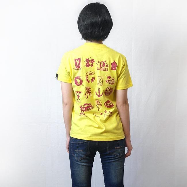 カバ Tシャツ (イエロー) -G- 半袖 黄色 かば 河馬 アニマルイラスト かわいい カジュアル コットン綿100% bambi 03