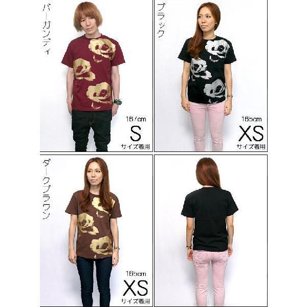 ゴールドローズ & シルバーローズ Tシャツ -G- フラワー バラ 薔薇 プリントTシャツ かわいい 半袖 bambi 04