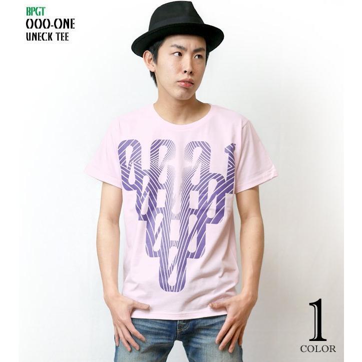 000-one UネックTシャツ -G- ゼロ 半袖 ピンク グラフィックプリント カジュアル アメカジ  かっこいい オリジナルブランド|bambi