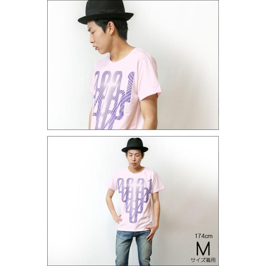 000-one UネックTシャツ -G- ゼロ 半袖 ピンク グラフィックプリント カジュアル アメカジ  かっこいい オリジナルブランド|bambi|03