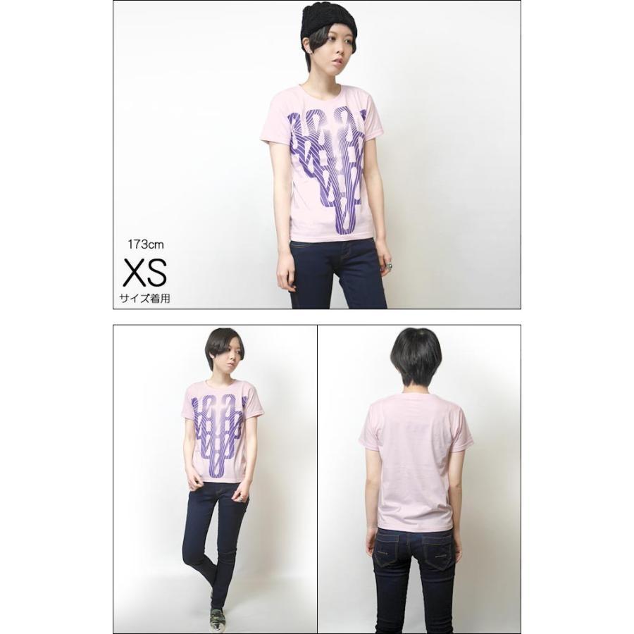 000-one UネックTシャツ -G- ゼロ 半袖 ピンク グラフィックプリント カジュアル アメカジ  かっこいい オリジナルブランド|bambi|04
