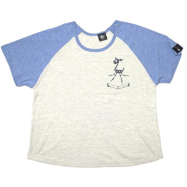 鹿の骨 ラグラン ガールズ ビックTシャツ -G- 半袖 スカル ロックTシャツ ワンポイント バックプリント ゆったりサイズ bambi 03