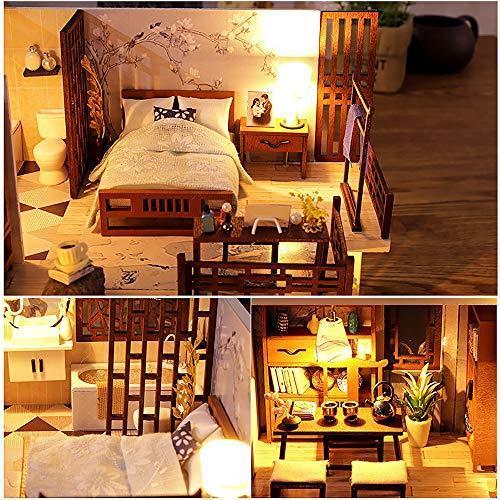 CuteBee DIY木製ドールハウス、QUIET TIME 、ミニチュアコレクション、LEDライト、オルゴール、プレゼント、電池AAA*2|banana-store2|03