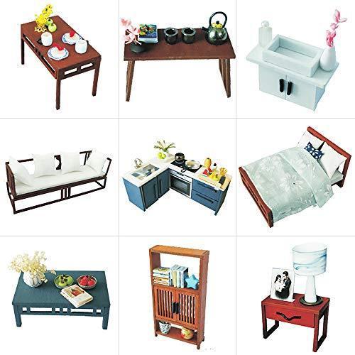 CuteBee DIY木製ドールハウス、QUIET TIME 、ミニチュアコレクション、LEDライト、オルゴール、プレゼント、電池AAA*2|banana-store2|05