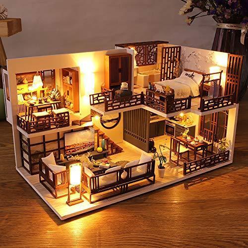 CuteBee DIY木製ドールハウス、QUIET TIME 、ミニチュアコレクション、LEDライト、オルゴール、プレゼント、電池AAA*2|banana-store2|06