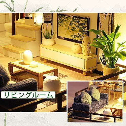 CuteBee DIY木製ドールハウス 、バンブーチャーム、中華風、ミニチュアコレクション、プレゼント、防塵カバー付|banana-store2|03