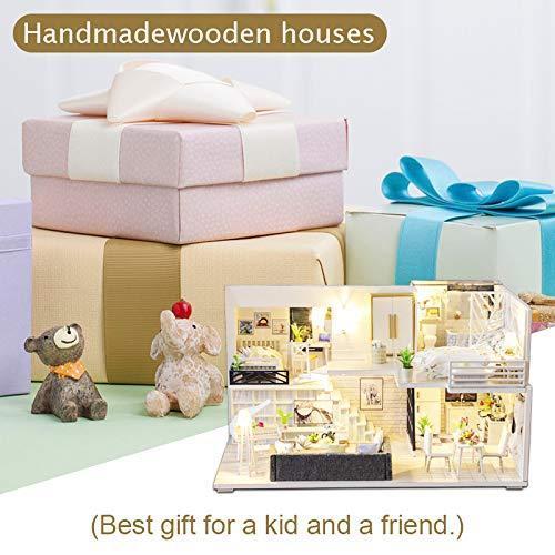 CuteBee DIY木製ドールハウス、Happy Time、手作りキットセット、ミニチュアコレクション、LEDライト(電池AAA*2必要)|banana-store2|06