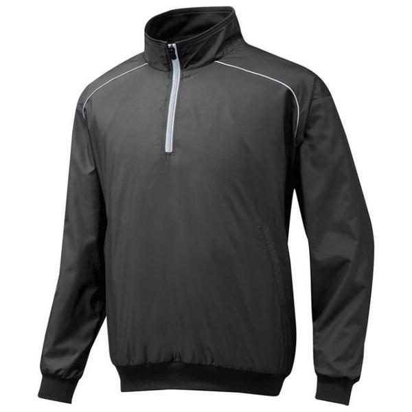 ミズノ (12JE5V4409) ハーフZIPジャケット長袖 学生野球対応 ブラック