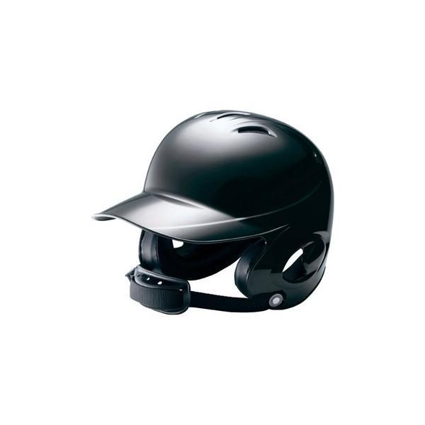 ミズノ (2HA788-09) 少年硬式野球両耳打者用ヘルメット ブラック