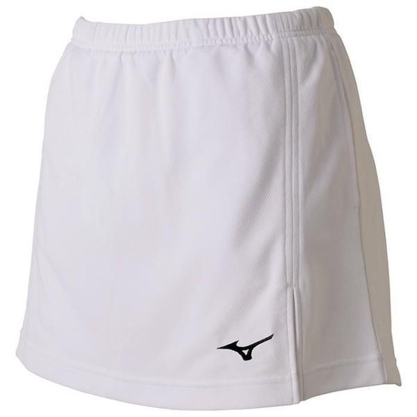 ミズノ (62JB720401) ウイメンズ ソフトテニス-バドミントンスカート インナースパッツ付き ホワイト