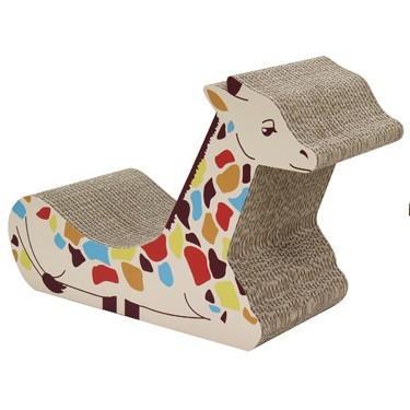 nekoto_キリンの爪とぎベッド 猫 ネコ 積層爪とぎ ダンボール  ベッド キリン|bando|05