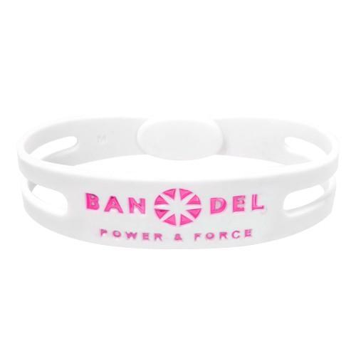 BANDEL Bracelet Metallic ブレスレットメタリック 白い×ピンク