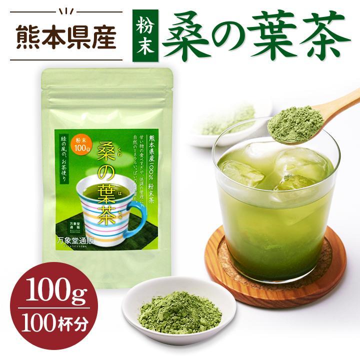 桑の葉茶 粉末 100g 青汁  国産 送料無料 効能 桑茶 パウダー|bansyodo1