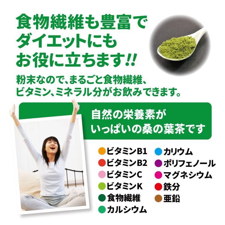 桑の葉茶 粉末 100g 青汁  国産 送料無料 効能 桑茶 パウダー|bansyodo1|07