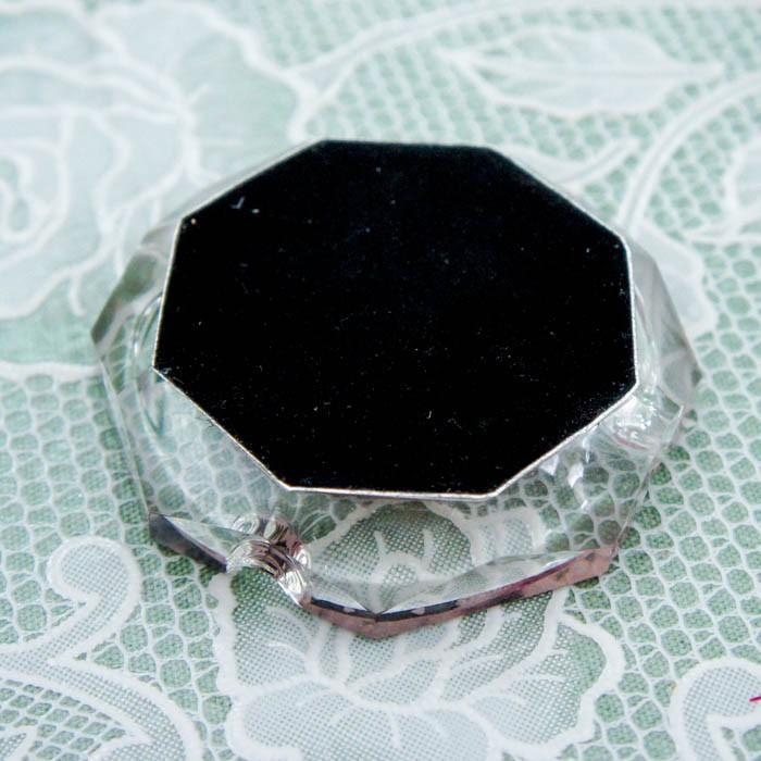 ガラス灰皿 ローズ 薔薇 小ぶり 小さい おしゃれ  かわいい ローズ切手 エッフェル|barazakkawithheart|03