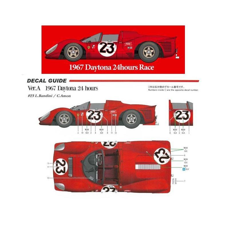 Ferrari 33P4 Ver.A 1967 Daytona 24hours #23