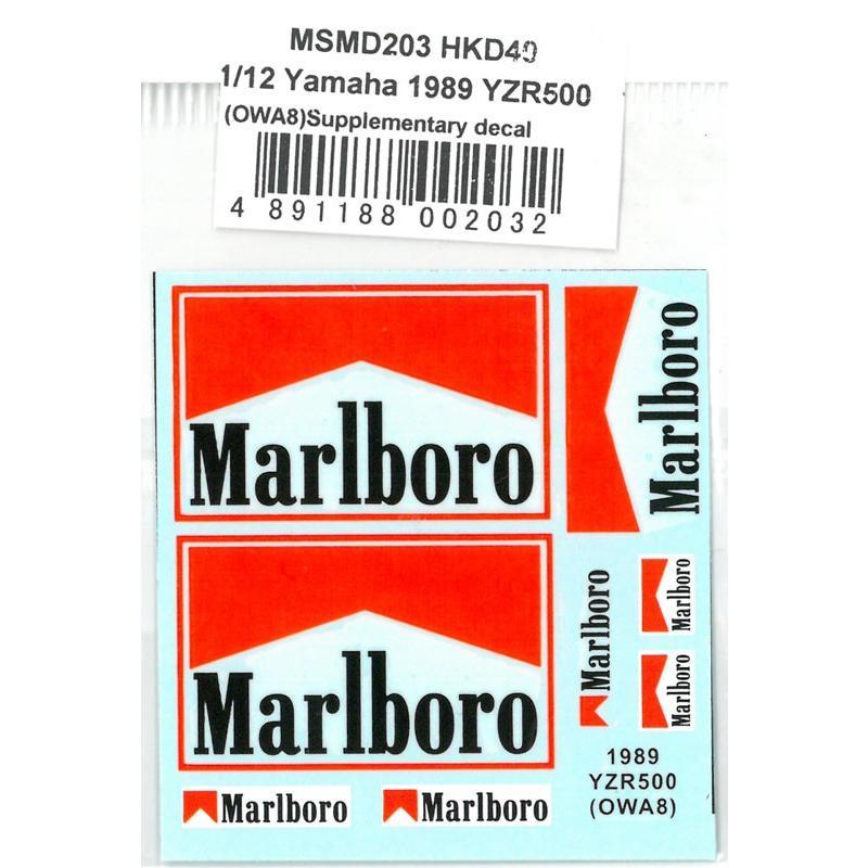 1 送料無料 激安 お買い得 キ゛フト 12 ヤマハYZR500 OWA8 大決算セール ハセガワ対応 1989 MSMクリエーション Marlboroデカール