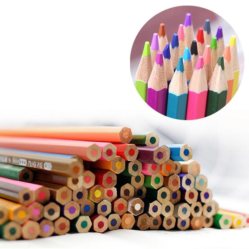 色鉛筆 水彩 48色セット 色えんぴつ 塗り絵 画材 水彩画 収納ケース付 大人の塗り絵付 barefeet 06