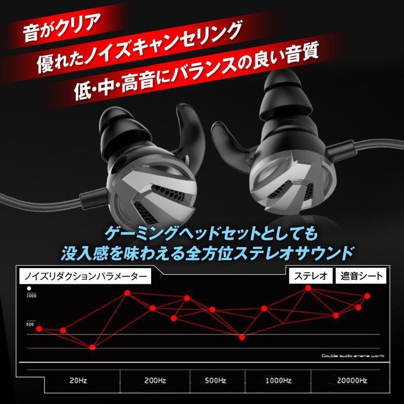 イヤホンマイク 有線 zoom ヘッドセット ゲーミングイヤホン マイク付き PS4ボイスチャット barefeet 07