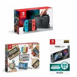 Nintendo Switch (ニンテンドースイッチ) 福袋セット 本体 + Labo Toy-Con バラエティキット 01+液晶保護フィルム