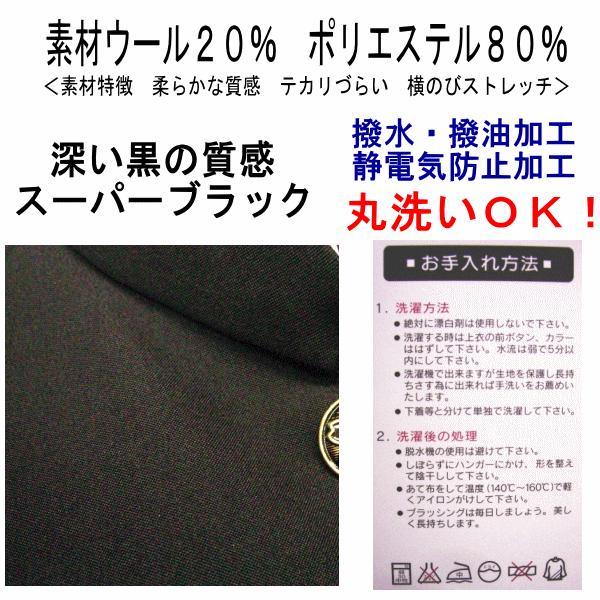 【送料無料】PurePort標準型学生服上下セット/カッコイイ!スマートスタイル標準型学生服ウール混|baron-hayakawa|04