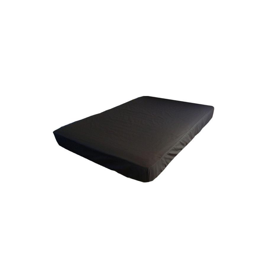 マチ30 ボックスシーツ ワイドキング オーダーメイド サイズの指定OK 200cm×200cm×30cm 綿100% ブラック