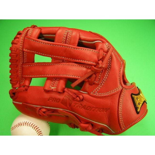 型付け済み 海外メーカー BMC ビーエムシー 左投げ用 内野用 レッド ピースウェブ 11.5インチ 硬式野球対応