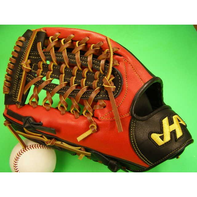 無料配達 型付け無料 ハタケヤマ HATAKEYAMA 海外モデル 左投げ用 硬式野球対応 外野用 レッド×ブラック ワイドポケット, RoyalBlue:ce2e6ff1 --- airmodconsu.dominiotemporario.com