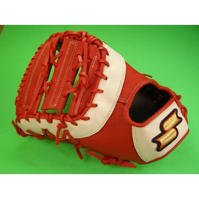 最安値挑戦! 型付け無料 SSK エスエスケー ソフトボール 野球 ファーストミット 一塁 左投げ用 レッド×ホワイト 硬式野球用 海外モデル 一塁 野球 ソフトボール, Rakuten BRAND AVENUE:00d62b2b --- airmodconsu.dominiotemporario.com