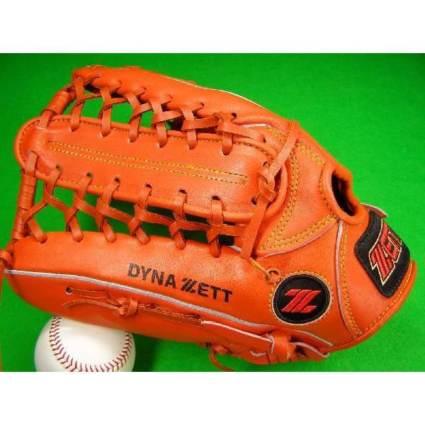 型付け無料 ゼット ZETT 海外モデル 左投げ用 外野用 硬式野球対応 オレンジ 大きめサイズ