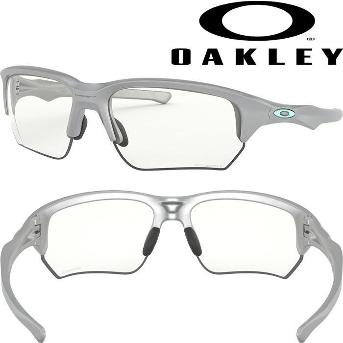 あすつく OAKLEY オークリー サングラス 調光レンズ FLAK BETA (ASIAN FIT) Photochromic × 銀 OO9372-10