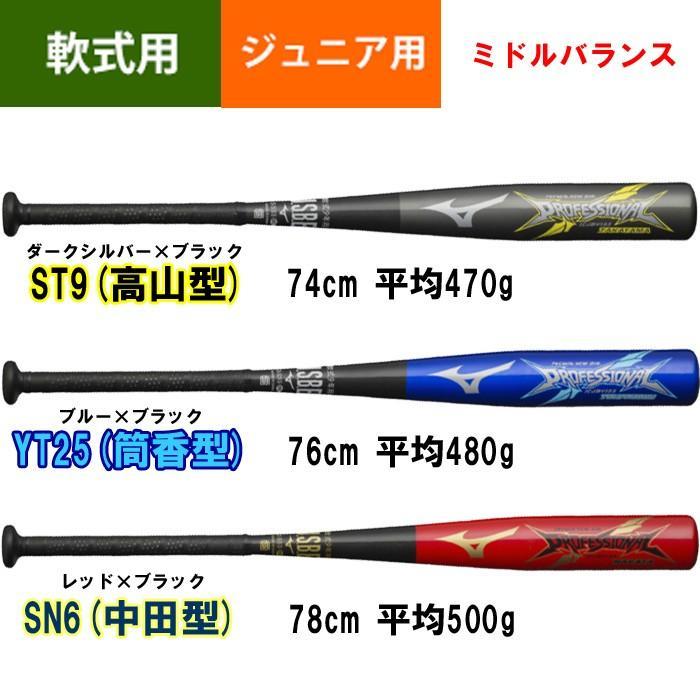 ミズノ ジュニア 少年 軟式用 野球 金属バット プロフェッショナル 1CJMY133 miz18ss