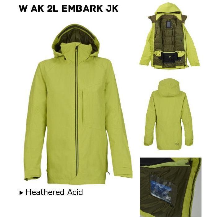 BURTON バートン W AK 2L EMBARK JKHeathe赤 Acid Sサイズ 10012102 FW レディース 婦人向け LADIES スポーツ ジャケット ゴアテックス 16 2015-2016