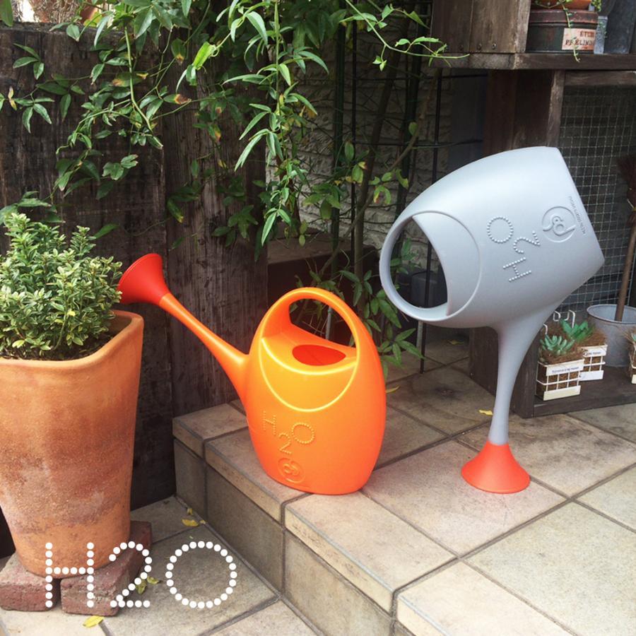 ジョウロ ジョーロ 水やり 観葉植物 手入れ 2.5 リットル L プラスティック 軽量 耐久性 100% イタリア製 H2O エイチツーオー おしゃれ かわいい POS DESIGN|basket2011