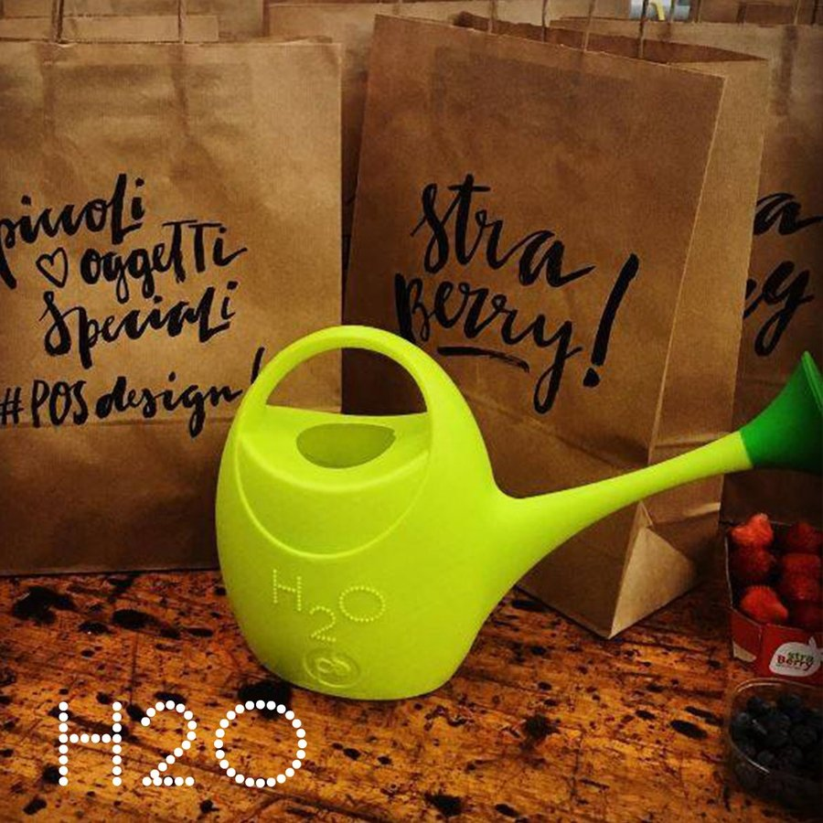 ジョウロ ジョーロ 水やり 観葉植物 手入れ 2.5 リットル L プラスティック 軽量 耐久性 100% イタリア製 H2O エイチツーオー おしゃれ かわいい POS DESIGN|basket2011|03
