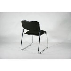 ミーティングチェア 会議イス 会議椅子 スタッキングチェア パイプチェア 4脚セット ブラック bauhaus1 02