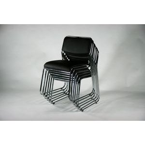 ミーティングチェア 会議イス 会議椅子 スタッキングチェア パイプチェア 4脚セット ブラック bauhaus1 03