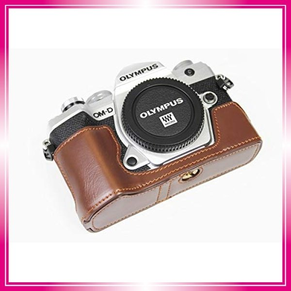 対応 Olympus オリンパス PEN OM-D E-M5 Mark III カメラ バッグ カメラ ケース 、Koowl手作りトップクラスのPUレザーカメ bay-center 03