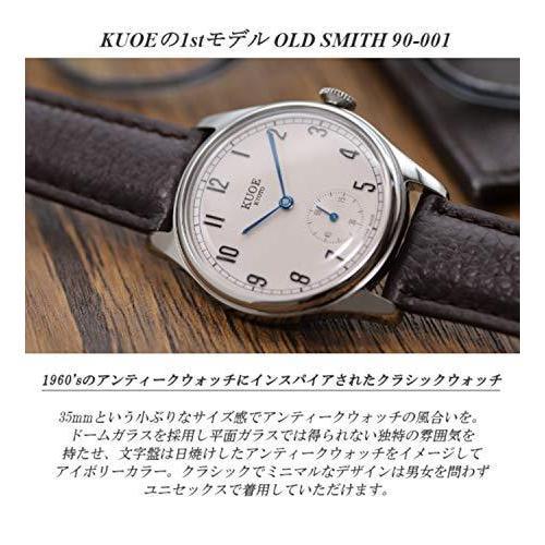 [クオ]KUOE 日本製 国産 腕時計 ウォッチ 京都ブランド クラシック アンティーク バーインデックス リザード型押しレザー ブラック 35mmケ|bayspring|07
