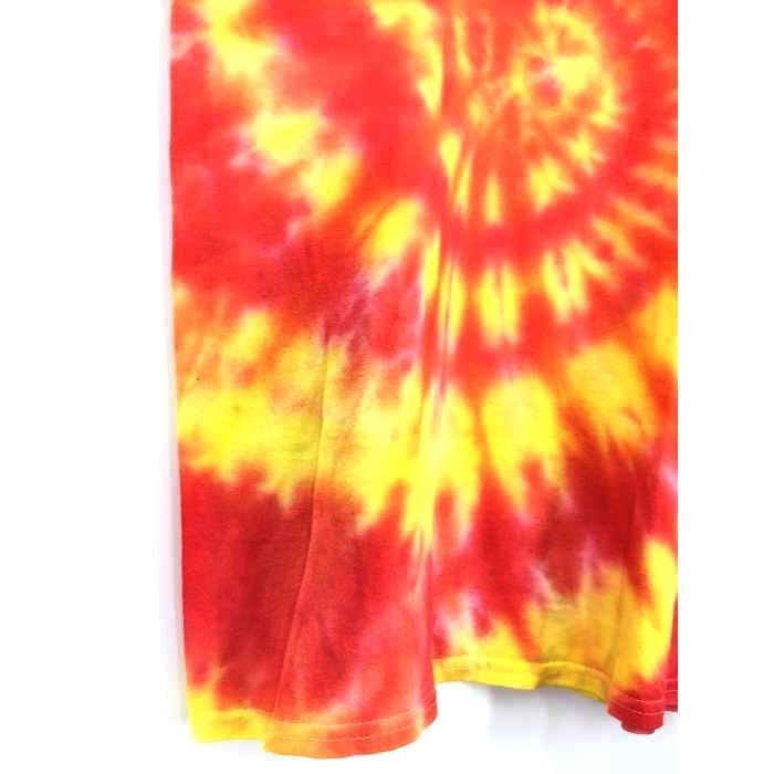 スラッシャー THRASHER フレイムロゴ タイダイ染めTシャツ メンズ M 中古 古着 210618|bazzstore|06