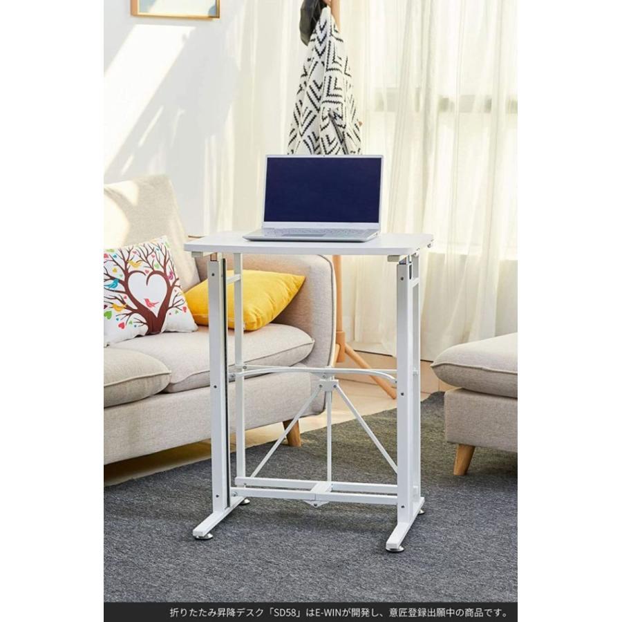 スタンディングデスク 昇降 デスク 在宅 昇降式テーブル 折りたたみ式 高さ調整 キャスター 小さめ コンパクト E-WIN bbest 13