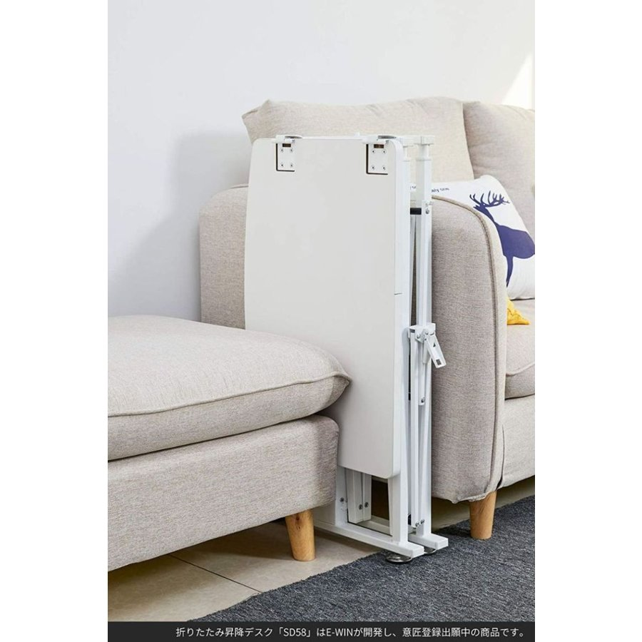 スタンディングデスク 昇降 デスク 在宅 昇降式テーブル 折りたたみ式 高さ調整 キャスター 小さめ コンパクト E-WIN bbest 14