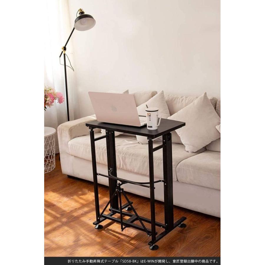 スタンディングデスク 昇降 デスク 在宅 昇降式テーブル 折りたたみ式 高さ調整 キャスター 小さめ コンパクト E-WIN bbest 17